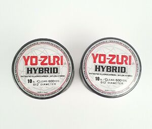 Lot of 2 - Yo-Zuri Hybrid Fluorocarbon 10 lb. 600 yrd Clear R656-CL Fishing Line