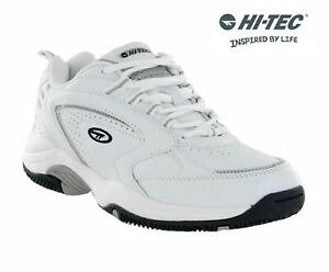 Hi-Tec-Blast-Lite-White-Lace-Up-Lightweight-Sports-Gym-Comfort-Tennis-Trainers