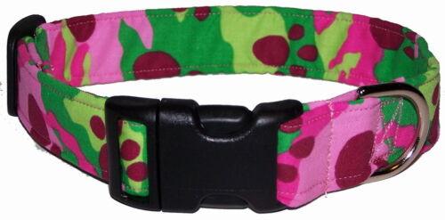 Wet Nose Designs Dog Paw Camo Camouflage Dog Collar Pink