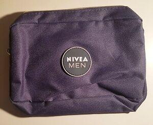NIVEA Men Kosmetikbeutel Dunkelblau Make - Up Tasche Kulturtasche 20 x 6 cm NEU