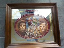 Rare Washington Redskins BAUGH & HUDSON Seagram's Wood Framed Bar Mirror RARE