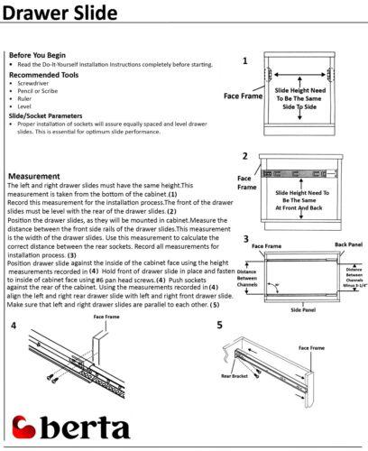 "15 Pairs Full Extension 100-lb Ball Bearing Drawer Slides 8/""-24/"" With Screws"