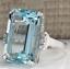 thumbnail 1 - Transparent Sea Blue 14.32CT Aquamarine With White CZ Party Fashion Women's Ring