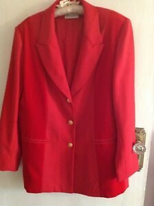 L Dames door Chic 14 Jack Panel Red Sherrard Maat Style Velvet Barry Blazer 16 8cZ1WPUc