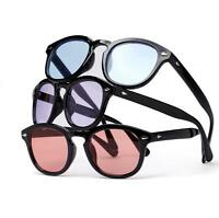 Hot Ocean Colors Tint Lenses Glasses Round Mirror Decorative Eyewear Glasses
