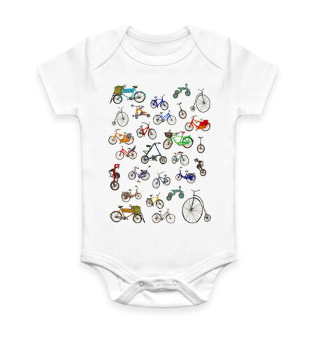Funny Cute Bicycles Baby Grow Bodysuit Baby Suit Vest Ideal Gift Unisex 856