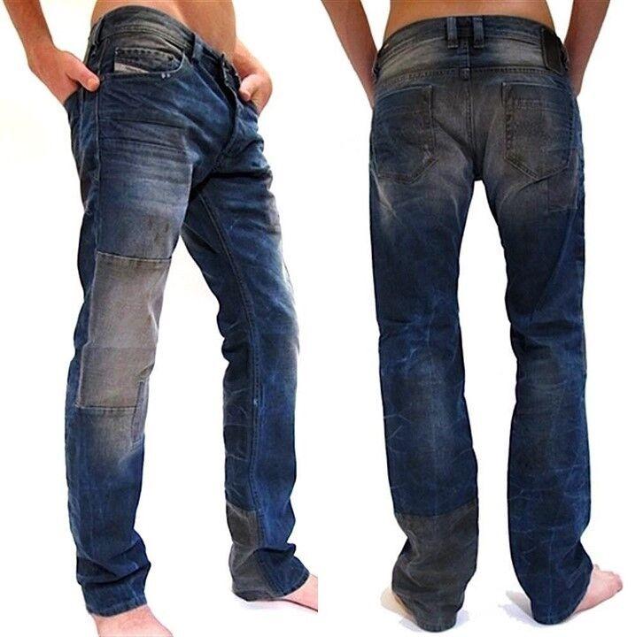 New Authentic Diesel Mens Designer Regular Slim Straight Leg Jeans Safado 0884B