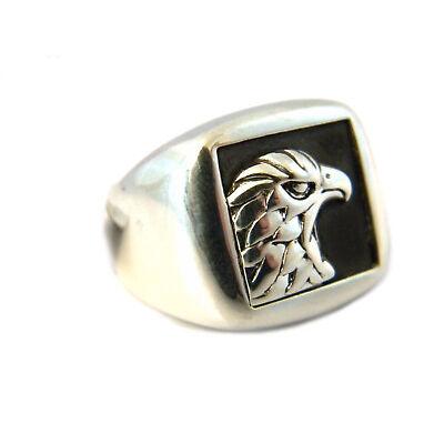 John Hardy Men's Size 9.25 Legends Eagle Head Signet Ring Silver NWT