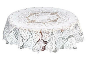 Round-Lace-Tablecloth-Cream-Wedding-Occasion-NEW-47-034-Traditional-Floral-Gift