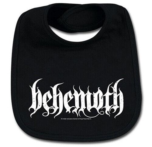 Behemoth Logo Cotton Baby Bib Boys Girls Infant Heavy Metal Kids Black Bibs
