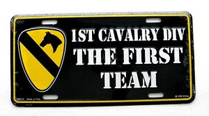 US-Army-1st-Cavalry-Division-The-First-Team-License-Plate-6-x-12-inches