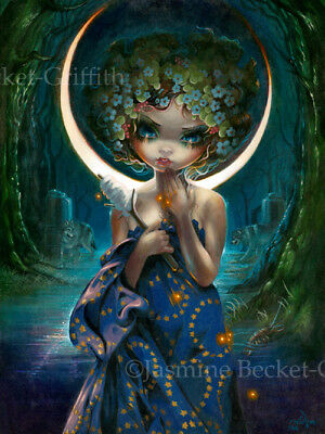 Jasmine Becket-Griffith art print SIGNED The Moon mythical tarot goddess