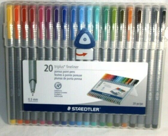 10 0.3mm New STAEDTLER Triplus Fineliner Pourous Point Pens Assorted Ink
