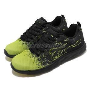 Diadora-DA9AMR6955-Black-Green-Men-Running-Walking-Casual-Shoes-Sneakers