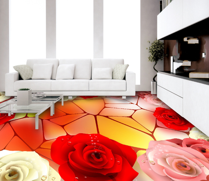 3D Geometric Rose 74 Floor WallPaper Murals Wall Print Decal AJ WALLPAPER US