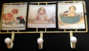 Handtuchhalter Motiviert Wandhaken Motiv Schild Eisen 42,5x23,5 Cm Vintage Ästhetik Haus Handtuch Halter Antiquitäten & Kunst