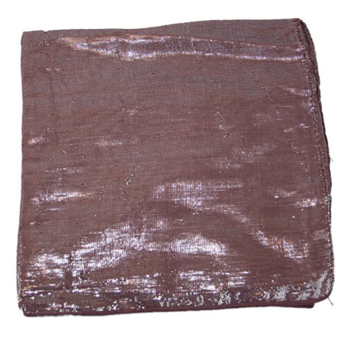 Vintage Lurex Scarf Hair Cover Wrap Headscarf 100/% Solid Cotton