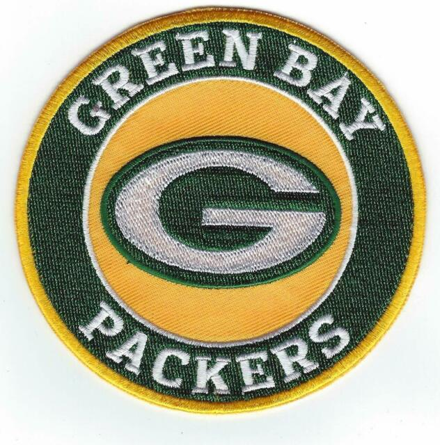 """Green Bay Packers Vintage Embroidered Patch PACKER MAN 3/"""" X 2/"""""""