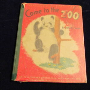 Come to the Zoo 1948 easy-to-read Photograph Child HB Book Original Tensen S22