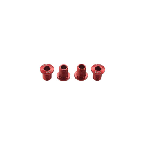 Wolf Tooth Components 10mm Red Chainring Bolts 4pk for 30t x 104mm BCD