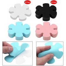 20 Pcs Flower Shaped Transparent Anti-slip Bathtub Decals Stickers Bath Protect