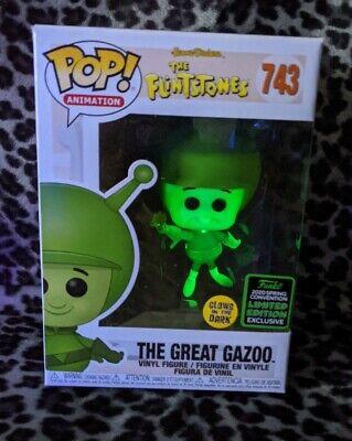 2020 ECCC Exclusive Sticker Funko POP The Flintstones The Great Gazoo IN HAND