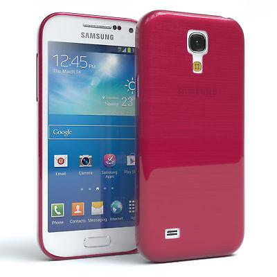 Schutz Hülle für Samsung Galaxy S4 Mini Brushed Cover Handy Case Pink