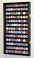 117 L Casino Chip Coin Display Case Cabinet Chips Holder Wall Rack 98% UV Locks