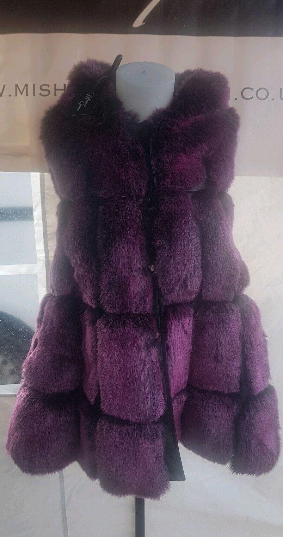 New Faux Faux Faux Fur Gilet Size 953603