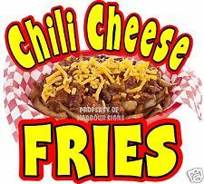 Chili Cheese Fries Decal 8 Concession Restaurant Food Truck Cart Vinyl Sticker