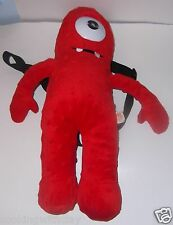 "17"" MUNO! YO GABBA GABBA 2011  RED PLUSH BOOKBAG BACkPACK PURSE handbag DOLL"