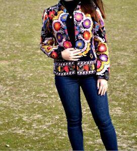Uzbek-handmade-embroidery-women-s-silk-suzani-dress-pomegranate-garden-caftan