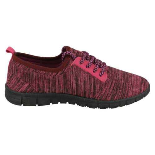 LADIES WOMENS REFLEX LIGHTWEIGHT LACE UP RUNNING CASUAL TRAINERS SHOES F7049