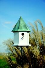 Heartwood Copper Songbird Deluxe Bird House - White w/Verdi Copper Roof 143A NEW