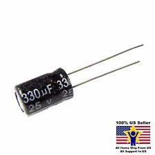 US Seller Radial 4 Pcs Capacitor Nippon 330uF 25v 105C 8x11.5mm