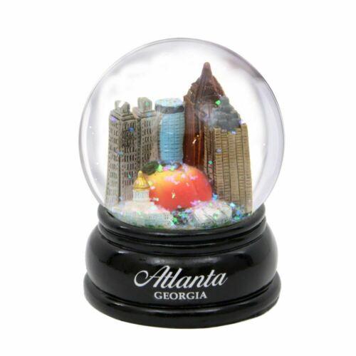 Atlanta Snow Globe Wood Base 3.5 Inch