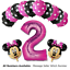 DISNEY-Mickey-Minnie-Mouse-Compleanno-Stagnola-Lattice-Palloncini-1st-Compleanno-Baby-Shower miniatura 19