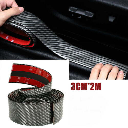 Carbon Fiber Rubber Edge Guard Strip Door Sill Protector For Ford Fusion Focus