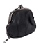 Black-Woman-Leather-Dual-Compartments-Frame-Coin-Change-Clasp-Purse-New