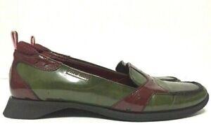 Miu Miu Loafers Shoes Green Patent