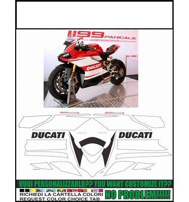 Adesivi Stickers compatibili con moto DUCATI HYPERMOTARD REPLICA MARTINI