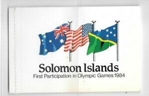 """Solomon Islands - 1984 - $3.95 """"Olympics""""stitched booklet - SB7 - unmounted mint"""
