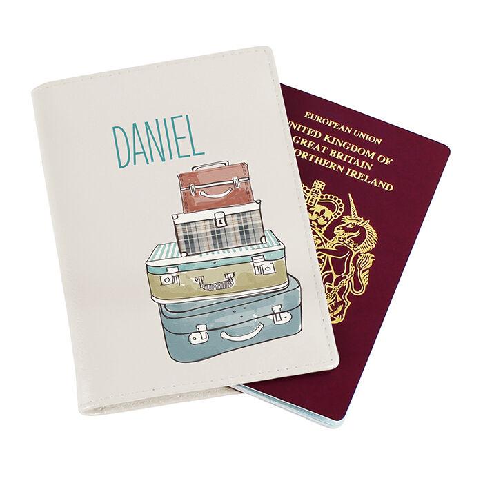 Personnalisé cover cuir passport cover Personnalisé holder protecteur portefeuille voyage royaume-uni européen 96f977