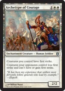 English Born of the Gods MTG Magic 4x Archetype of Aggression NM-Mint