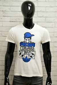 Maglia-ADIDAS-Uomo-Taglia-Size-S-Maglietta-Shirt-Man-Cotone-Manica-Corta-Bianco