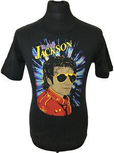 Michael Jackson 80's World Tour Concert Gig Vintage Black T-Shirt Tee Women's L