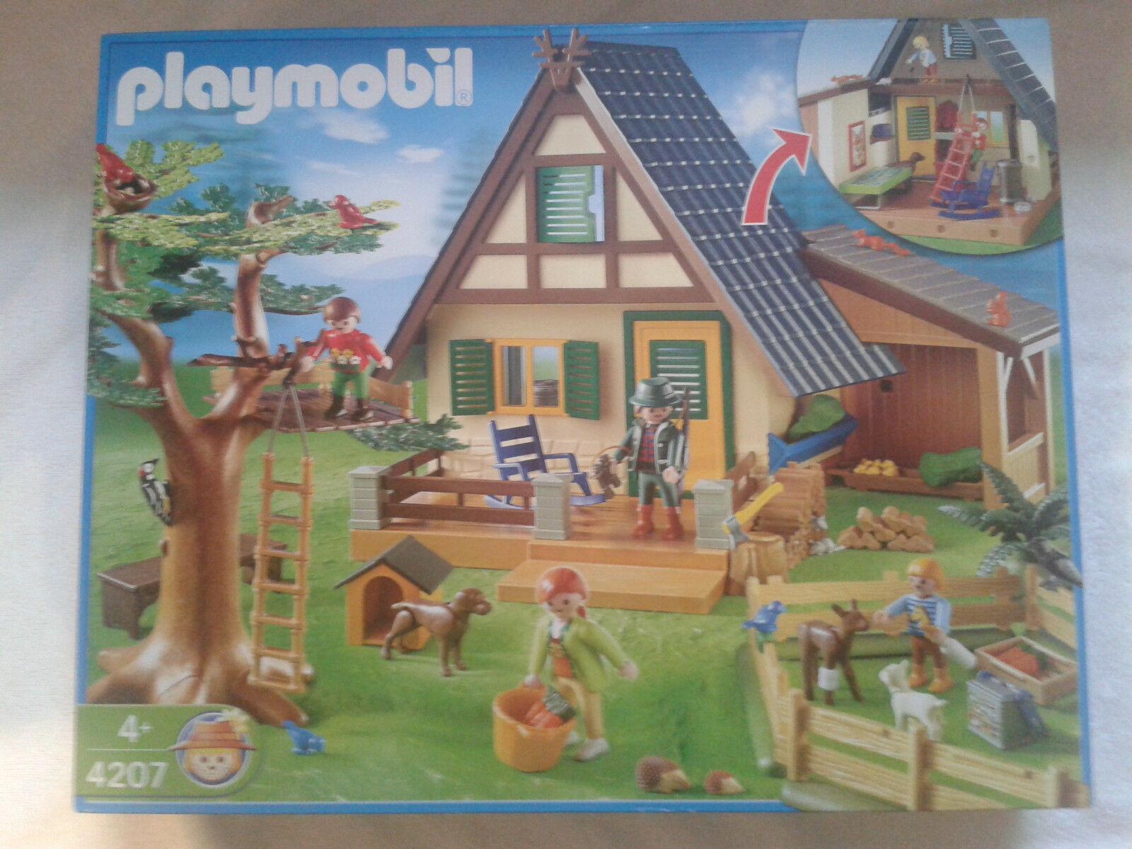 Playmobil 4207 Forsthaus mit Tierpflegestation absolute Rarität neu und ovp