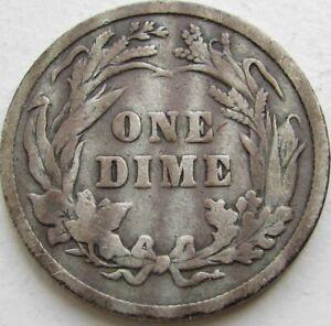 1896-Barber-Silver-Dime-in-a-SAFLIP-VG-Good