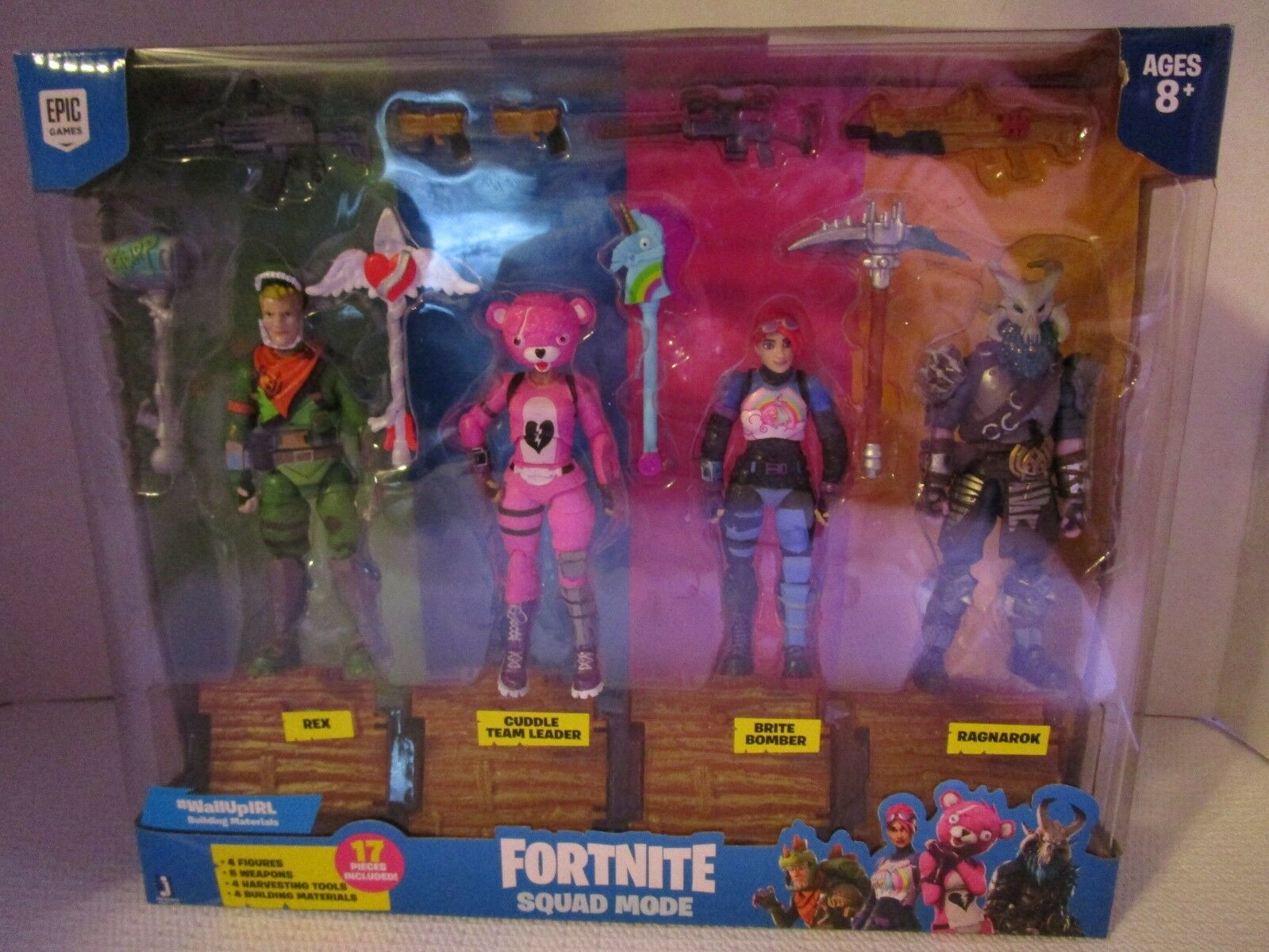 FORTNITE Squad Mode Rex Rex Rex Cuddle Brite Bomber Ragnarok 17 Pc Set NEW Sealed RARE e8771a