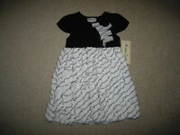 black Zig-zag Ruffle Dress Girls Clothes 2t Spring Summer Boutique Toddler